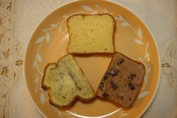 バナナケーキとカステラ